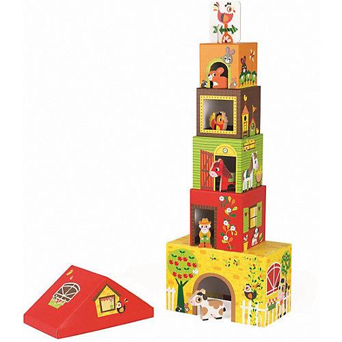 "Пирамидка Janod ""Ферма"", с деревянными фигурками от Janod"