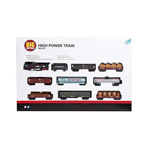 Железная дорога Big motors с 9 вагонами от Big motors
