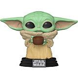 Фигурка Funko POP! Bobble: Star Wars: Mandalorian: Малыш Йода с чашкой, 49933