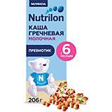 Жидкая молочная каша Nutrilon гречневая с 6 мес, 9 шт по 206 г