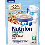 Молочная каша Nutrilon  гречневая с 6 мес, 6 шт по 200 г