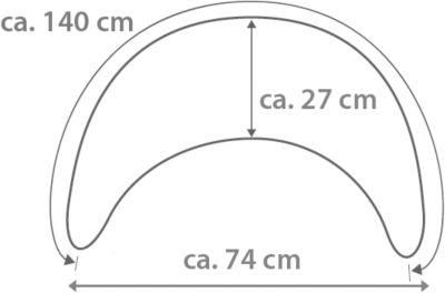 Theraline Plüschmond Mondkissen Stillkissen 140x27 cm malve NEU