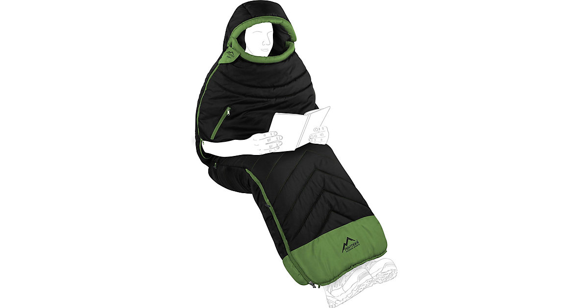 Schlafsack Kehno Schlafsäcke schwarz/grün