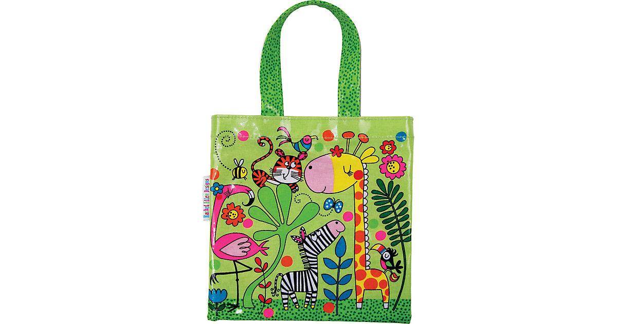 Shopper Mini-Tragetasche Dschungel, 20 x 20 cm hellgrün