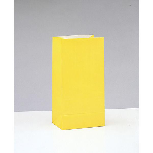 10 Papiertüten, Neon-Sortiment (Melone, Gelb, Grün, Orange), 25,4 x 13,3 cm, PARTYSTROLCHE®