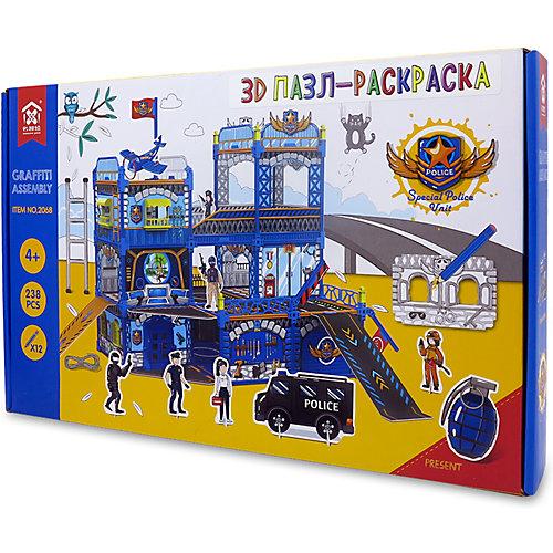 """3D Пазл-раскраска Synergy """"Полицейский Участок"""", 238 деталей от Synergy"""