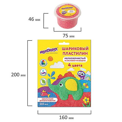 """Шариковый пластилин Юнландия """"Юрландик в зоопарке со слоном"""", 4 цвета от Юнландия"""