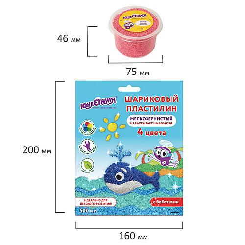"Шариковый пластилин Юнландия ""Юрландик-океанолог"", 4 цвета от Юнландия"