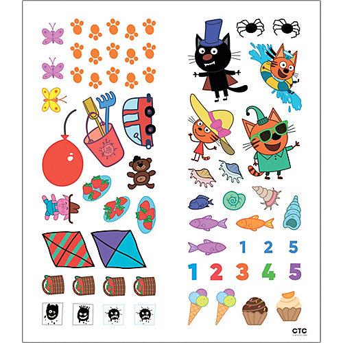 """Книжка с наклейками """"Три кота. Счет"""" от Мозаика-Синтез"""