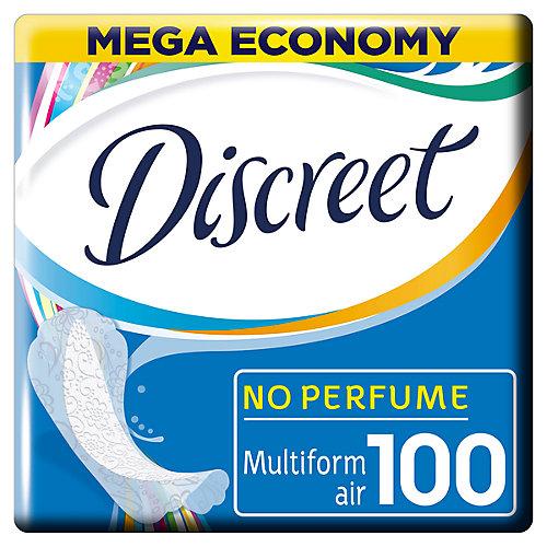 Женские ежедневные прокладки DISCREET Air Multiform, 100 шт. - weiß/beige