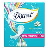 Женские ежедневные прокладки DISCREET Deo Spring Breeze Multiform, 100 шт.