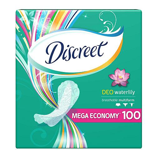 Женские ежедневные прокладки DISCREET Deo Water Lily Multiform, 100 шт. - weiß/beige