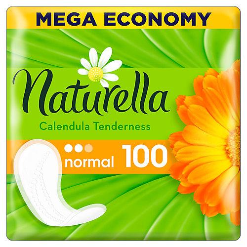 Женские ароматизированные ежедневные прокладки NATURELLA Calendula Tenderness (с ароматом календулы), 100 шт. - weiß/beige