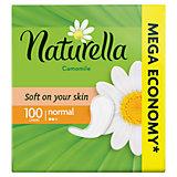 Женские ароматизированные ежедневные прокладки NATURELLA Normal (с ароматом ромашки), 100 шт.