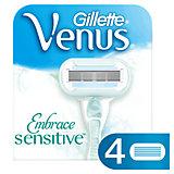 Сменные кассеты для бритвы Gillette Venus Sensitive (для чувствительной кожи), 4 шт