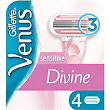 Сменные кассеты для бритвы Gillette Venus Divine Sensitive, 4 шт