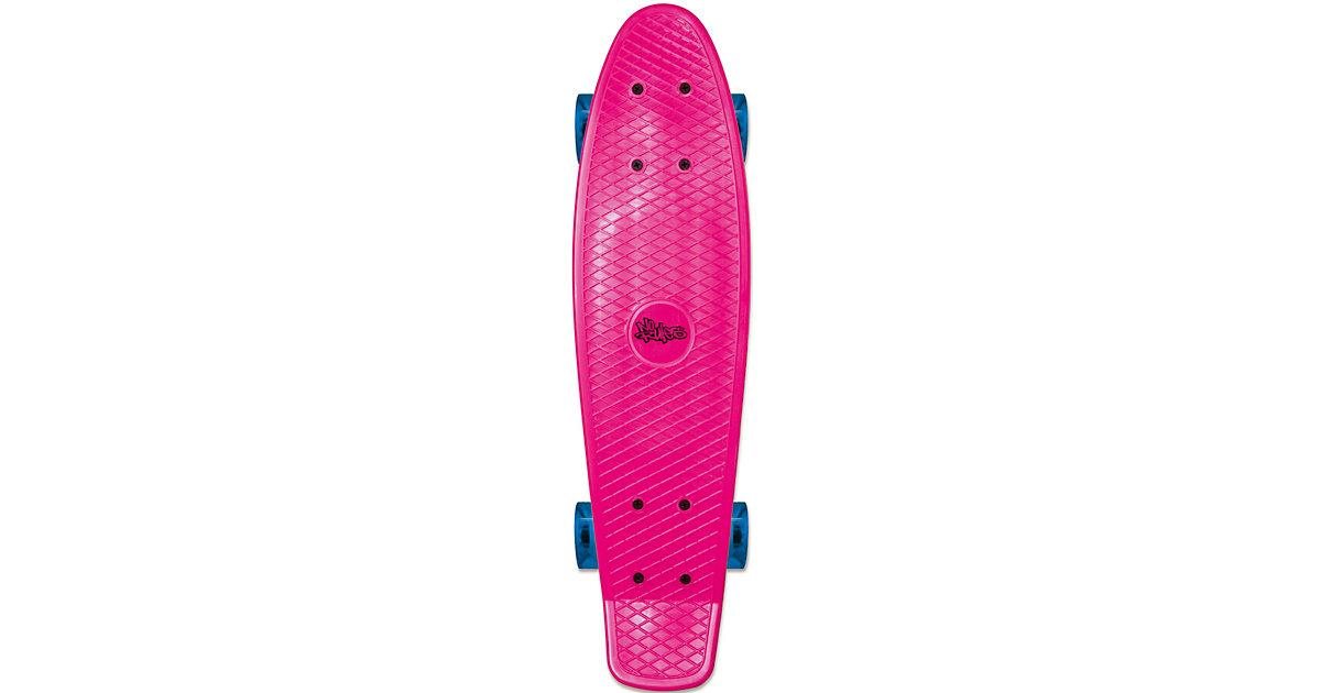 Skateboard fun pink mit Leuchtrollen