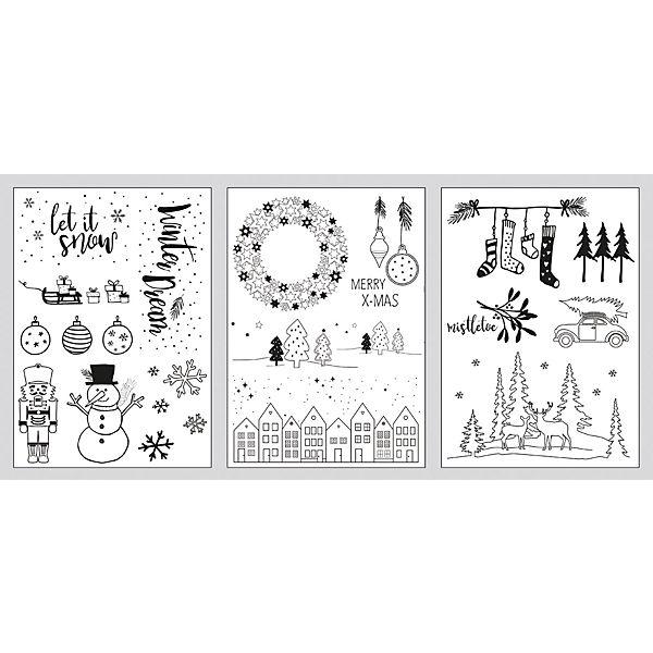 fenster malvorlagen winter  weihnachten 3 vorlagen  1