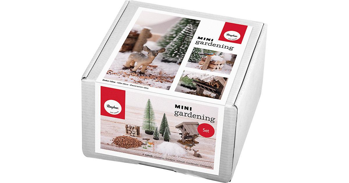 Mini-Gardening-Set Winterdream, 13-tlg., weiß, Karton natur/grün
