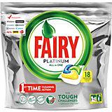Капсулы для посудомоечной машины Fairy Platinum All in One Лимон 18 шт/уп