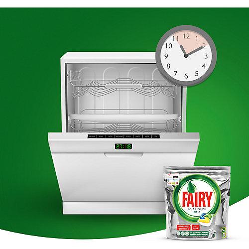Капсулы для посудомоечной машины Fairy Platinum All in One Лимон 50 шт/уп