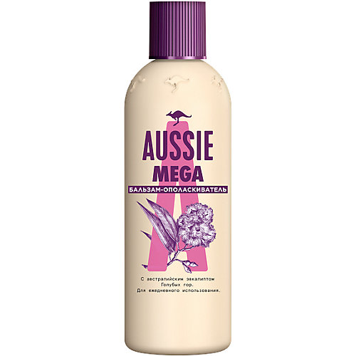 Бальзам-ополаскиватель Aussie Mega для всех типов волос, 250 мл