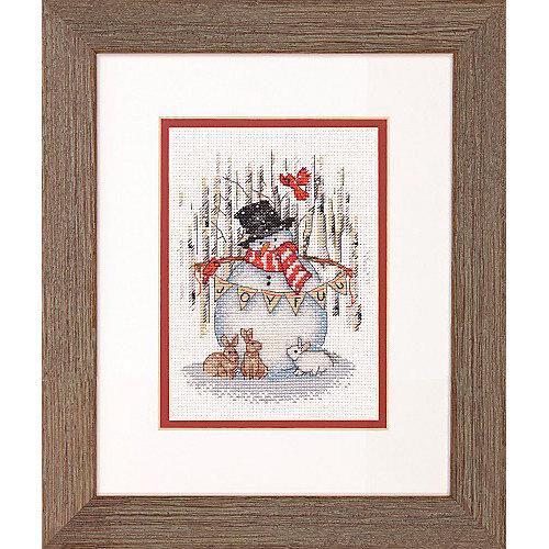 """Набор для вышивания Dimensions """"Радостный снеговик"""" от Dimensions"""