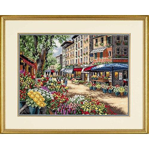 """Набор для вышивания """"Рынок в Париже""""   38 x 27 см от Dimensions"""