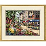 """Набор для вышивания """"Рынок в Париже""""   38 x 27 см"""