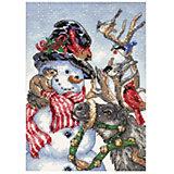 """Набор для вышивания Dimensions """"Снеговик и олень"""""""