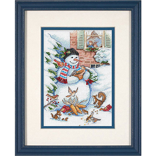 "Набор для вышивания Dimensions ""Снеговик и друзья"" от Dimensions"