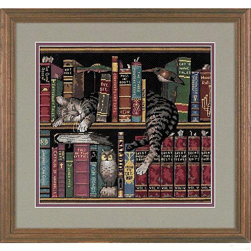 """Набор для вышивания Dimensions """"Кот в книгах"""" от Dimensions"""