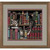 """Набор для вышивания Dimensions """"Кот в книгах"""""""
