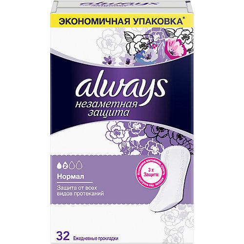 Ежедневные прокладки Always Незаметная защита Нормал, 32 штуки - weiß/beige