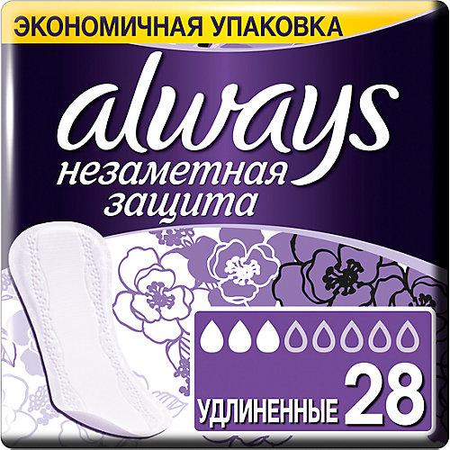 Ежедневные прокладки Always Незаметная защита Удлиненные, 28 штук - weiß/beige