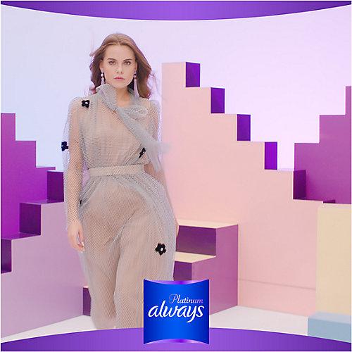 Гигиенические прокладки с крылышками Always Platinum Супер Плюс, размер 3, 7 штук - weiß/beige