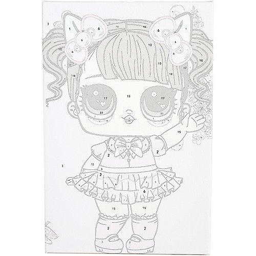 """Картина по номерам Цветной """"Малышка в розовом платьице"""""""