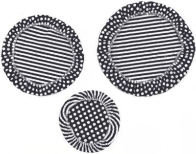 Textil Schüsselabdeckung 3er-Set;  30, 25 & 20 cm