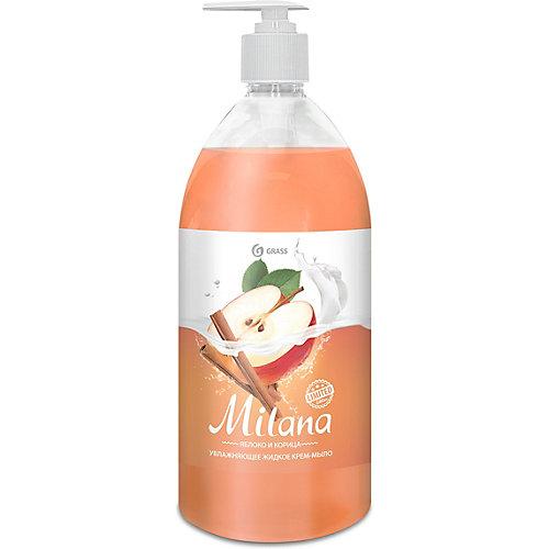 Жидкое крем-мыло Grass Milana Яблоко и корица, 1000 мл