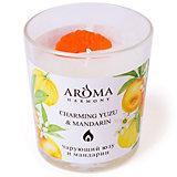 Свеча ароматическая Aroma Harmony Юзу и мандарин, 160 гр