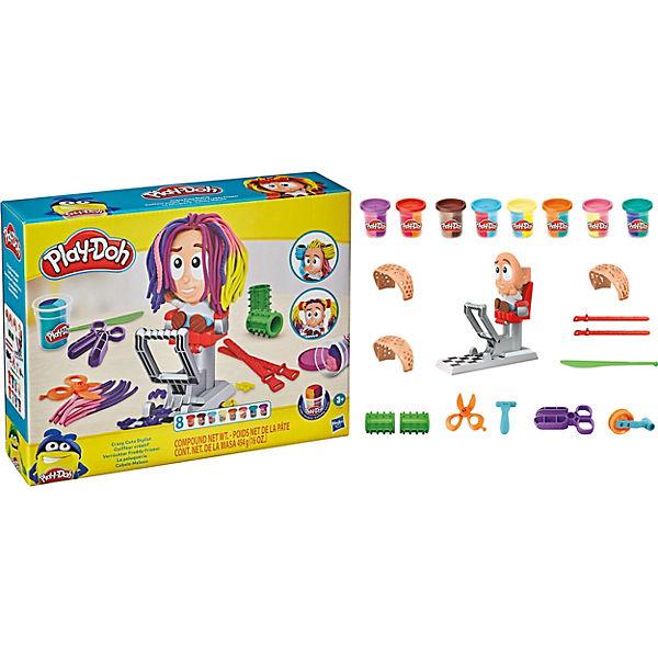 Play-Doh Verrückter Freddy Friseur Haarsalon Spielset  mit 8 dreifarbigen Play
