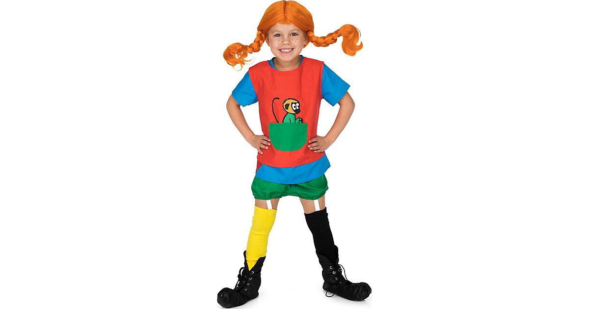 Pippi Langstrumpf Verkleidung, Gr. 92-104 mehrfarbig Gr. 92/104 Mädchen Kleinkinder
