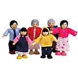 Набор мини-кукол Hape Счастливая азиатская семья