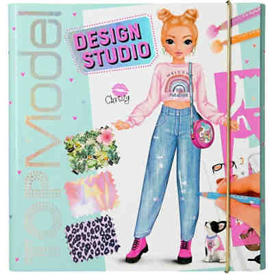 Create your TOPModel Design Studio, Designer Malbuch, inkl. Schablonen & Sticker