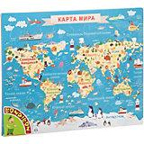 Пазл Bondibon «Карта животные мира», 65 деталей