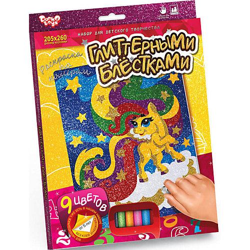Набор для творчества Danko Toys «Раскраска глитерными блестками по номерам» от Danko Toys
