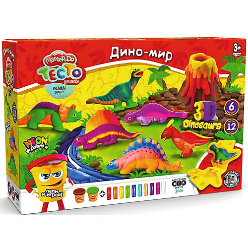 "Набор для творчества Danko Toys Master Do ""Тесто для лепки ""Дино-мир"" от Danko Toys"
