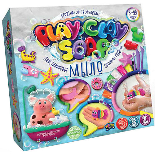 Набор для творчества Danko Toys Play Clay Soap «Пластилиновое мыло», 8 цветов от Danko Toys