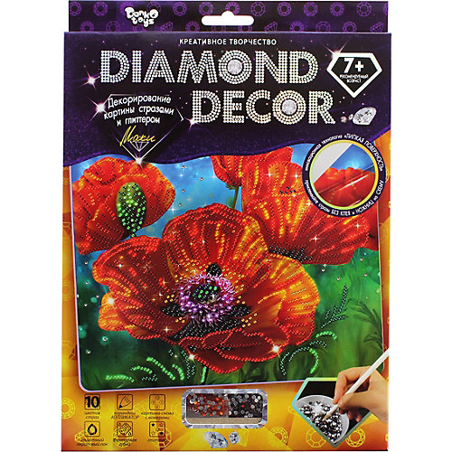 Набор для создания мозаики Danko Toys Diamond décor, планшетка без рамки от Danko Toys