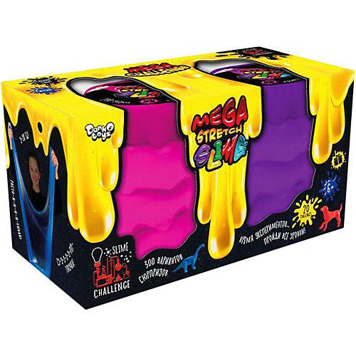 Вязкая масса Danko Toys Mega Stretch Slime «Ручной лизун», 2 банки, цвет в ассортименте от Danko Toys